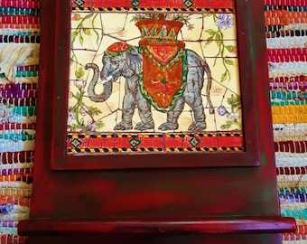 Mosaic tile elephant wall hanging