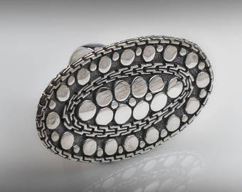 Stunning Sterling Silver Statement Ring