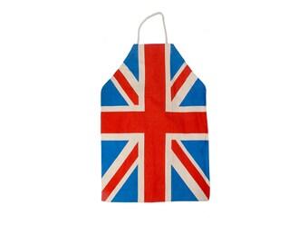 Vintage 70s Apron - Union Jack - Britsh Flag - 70s Union Jack - Union Jack Apron - British Flag Apron - Full Apron - 70s British Flag - BBQ