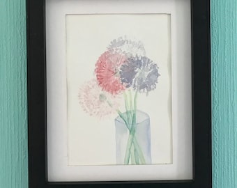 Bouquet of Allium Original Watercolor