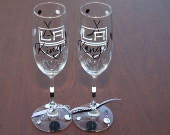 LA Kings Exclusive Glassware, Hockey, Sports Glasses - Kings FAN, Kings Gifts