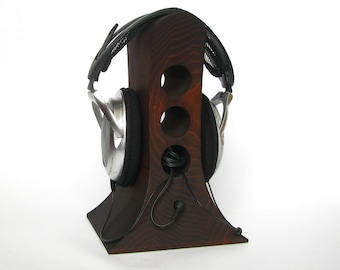Stand for headphones from wood ash, original design