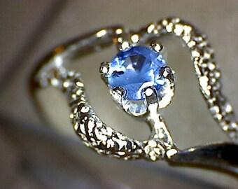Stunning Benitoite Swirl Ring