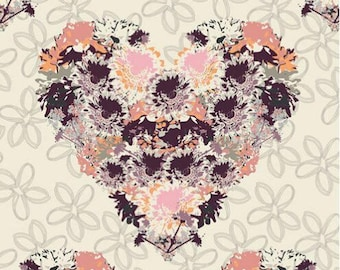 Floral Heart Fabric