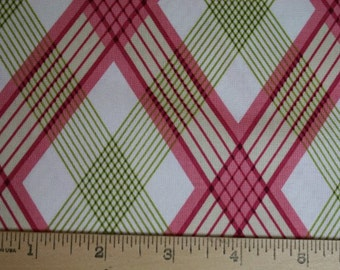 1 YARD Joel Dewberry Modern Meadow Picnic Plaid in Berry Cotton Quilt Fabric