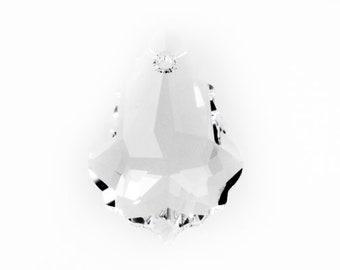 Crystal 6090 Swarovski Elements Crystal - Baroque Pendant (16mm x 11mm x 5mm)