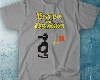 Classic Atari Adventure T-Shirt - Original Parody Combining The Famous Bruce Lee Movie and One Of Atari's Best Games Ever