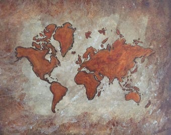 """Original Acrylic Painting - """"A World Without Borders"""""""