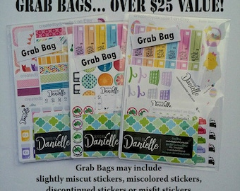 Planner Sticker Grab Bag, Planner Stickers Mystery Grab Bag, Clearance Sale Discount Stickers, Misfit Stickers, Seconds Bag Stickers