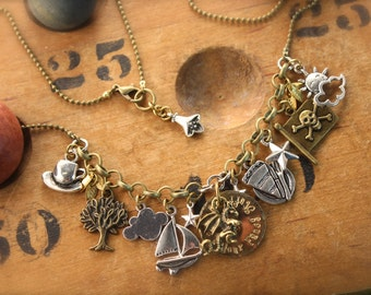 SALE Puff the Magic Dragon Inspired Charm Necklace