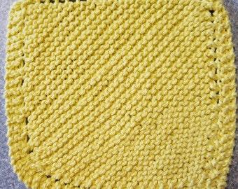 Handmade Knitted Dishcloth - Sunshine
