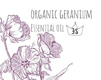 Organic Geranium Essential Oil   Pure Essential Oils   Organic Essential Oil