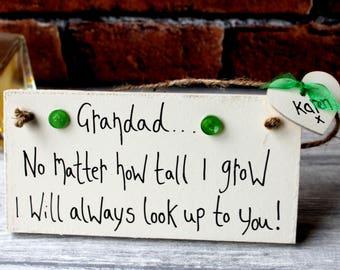 Grandad Birthday Gift-Grandad gift-Father's day Gift-Grandad Birthday Gift Personalized-Personalised Grandad Plaque  - Fathers Day Grandad