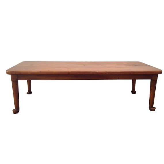 Primitive Low Wood Coffee Table Antique