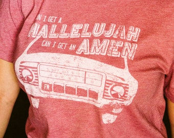 Can I get a Hallelujah, Can I get an amen Tee, Vintage tee, distressed tee, country t-shirt, gift for her, bella+canvas, graphic tee