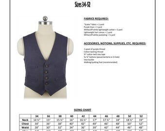 """11th Doctor """"Scales"""" Waistcoat Sewing Pattern - Doctor Who, Matt Smith, Eleventh Doctor Cosplay Vest Pattern"""