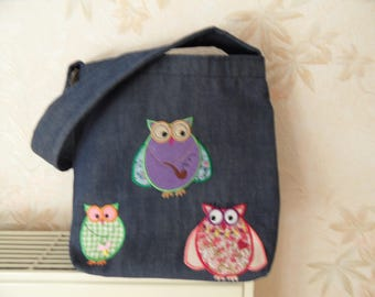 apply with owls kids bag