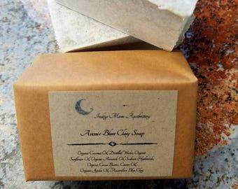 Australian Washed Blue Clay Soap, Vegan Soap, All Natural Soap, Fragrance Free Soap, Luxury Soap, Mineral Soap, Detox Soap, Facial Soap