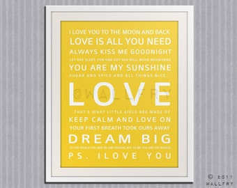 Nursery art print. Baby nursery decor. Art for children typography art for kids. Nursery wall quotes. Nursery quotes. Cliche print