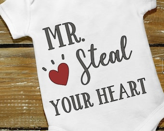Mr. Steal Your Heart onesie