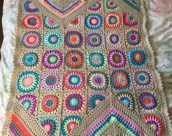 Wildflower baby blanket / lapghan/ Afghan / throw