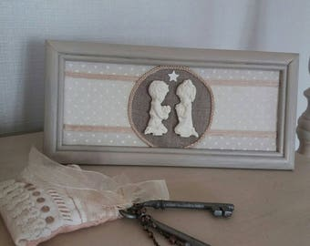 frame shabby children praying