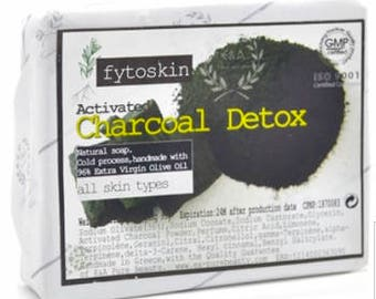 Charcoal Detox Olive Oil Soap/ Shaving Soap Bar/ Adult Acne Soap/ Deep Skin Cleansing Soap/ Men and Women Soap Bar/ Activated Charcoal Soap