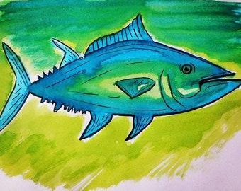 Tuna Art Print- Tuna Art