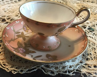 Occupied Japan Porcelian Demitasse teacup set