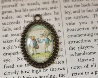 Mad hatters Tea Party Picture Pendant, charm
