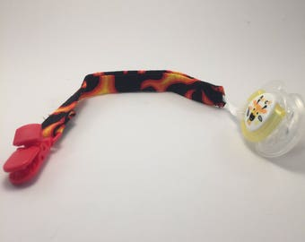 Flame Pacifier Clip