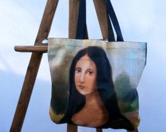 Mona Lisa my way - art illustration beautiful famous woman painting
