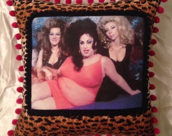 Kitsch Divine John Waters Female Trouble Throw Pillow