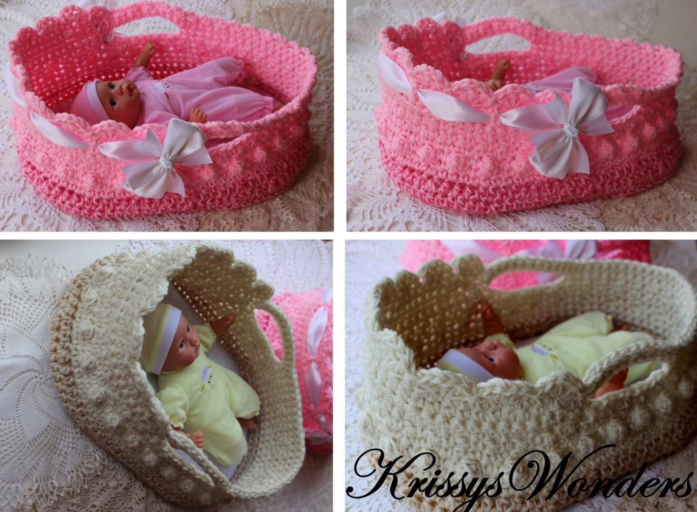 Crochet Moses Basket Doll Carrier Crochet Pattern