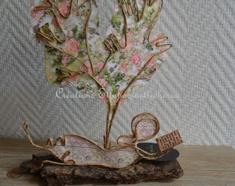 Short break: twine and paper sculptures, personalized gift, reading in the garden, etlabobinettecherra, string figurines, gift idea