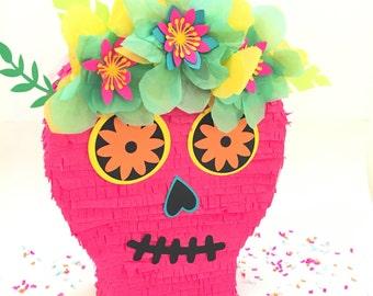 """Sugar Skull Pinata, DIa de Los Muertos, Card Box, Day of the Dead, Mexican Fiesta, Disney Coco, Mexican Wedding, Calavera, 12"""""""