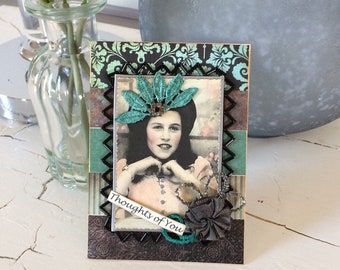 Thinking of You Card - Victorian Card - Vintage-style Card - flair style co