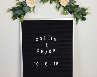 Letterboard Flower garland, bohemian flower garland, floral wall hanging, chair garland, floral garland, highchair banner