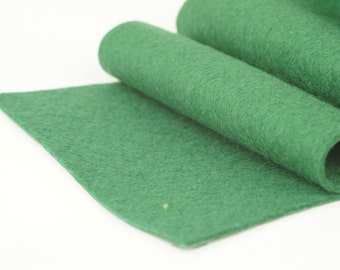 100% Merino Wool Felt  5'' x 1y - green - Color 15