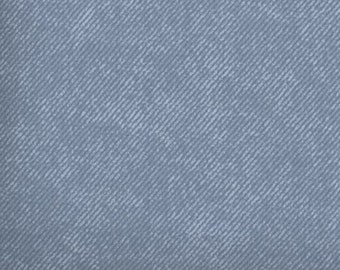 Blue cotton fabric by the yard - blue fabric by the yard - blue denim look fabric - #16143