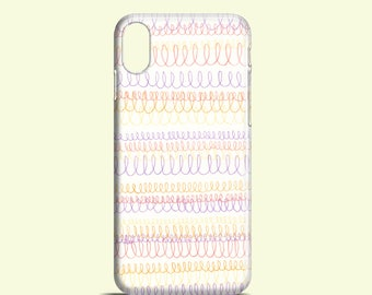Loop Doodle phone case / iPhone X / iPhone 8 / pattern iPhone 7 case / iPhone 7 Plus / iPhone 6s, 6 / iPhone 5/5S / Samsung Galaxy S7, S6