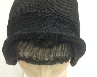 OAK 1930's Flapper STRAW Vintage Cloche HAT