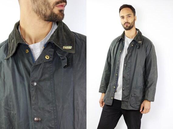 Barbour Coat Barbour Jacket Barbour Wax Jacket Barbour Wax Coat Barbour Blue Jacket Barbour Blue Coat barbour beaufort Vintage Wax Jacket