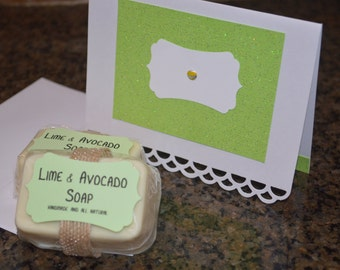 Lime and Avocado Soap/Card Set