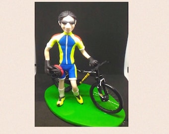 Cake topper, statue, custom character creation made entirely by hand without the use of moulds
