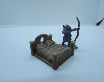 28mm Tabletop wargaming terrain King bed