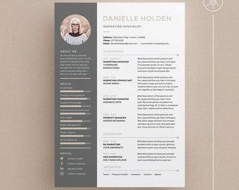 Millie resumecv template word photoshop indesign danielle resumecv template word photoshop indesign professional resume design yelopaper Choice Image