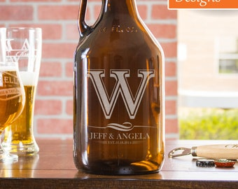Personalized Growler, Anniversary Gift For Husband, 4th Of July Gift, Wedding Growler, Gift For Him, Beer Growler, Engraved Growler