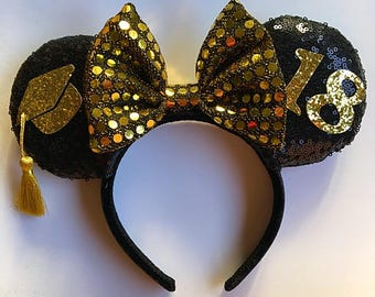 Graduation Mickey Mouse ears headband ,Graduation Minnie Mouse Ears
