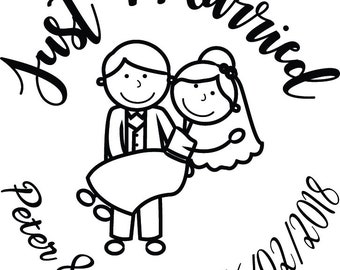 Just Married - Wedding Getaway Car Decal